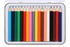 Et delle matite di colore Fotografia Stock Libera da Diritti