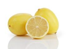 2 et demi citrons Image libre de droits