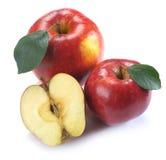 2 et demi pommes rouges Photos libres de droits