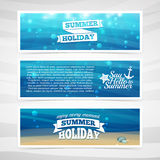 Et design template horizontal banners. Underwater Stock Photo