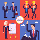 Et of different business characters, Royalty Free Stock Photos
