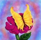 Et encore une fleur et un papillon 2016 Photos stock
