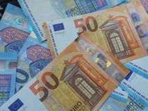 50 et 20 euro notes, Union européenne Photographie stock libre de droits