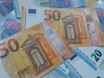 50 et 20 euro notes, Union européenne Photographie stock