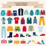 Et of Fashion collection of man wardrobe Royalty Free Stock Photos
