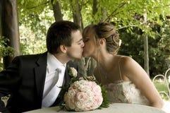 ? et finalement je peux vous embrasser Photos libres de droits