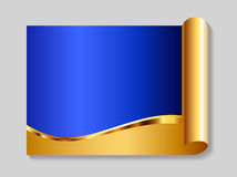 Or et fond abstrait bleu Images stock