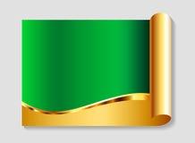 Or et fond abstrait de vert Images stock