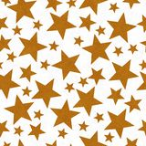Or et fond sans couture de modèle d'étoile-forme blanche photos stock