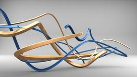 Or et formes bleues d'abrégé sur art moderne illustration libre de droits