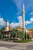 Et'hem Bey Mosque and Tirana Clock Tower. Stock Photos