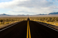 ET Highway. US 375 - Extraterrestrial highway in Nevada Royalty Free Stock Photography
