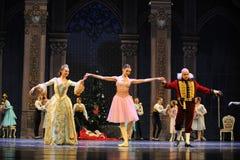 Et le casse-noix de ballet de together-The de marraine de parrain Photographie stock libre de droits