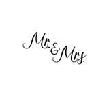 et Mme manuscrit Calligraphie pour des cartes de voeux, invitations de mariage Photo libre de droits