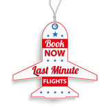 Et Price Sticker Last Minute Book Now. Price sticker for last minute flights vector illustration