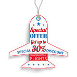 Et Price Sticker Offer Int Flights Royalty Free Stock Photography