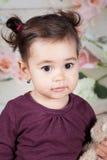 1 et un demi bébé an d'intérieur Photographie stock libre de droits