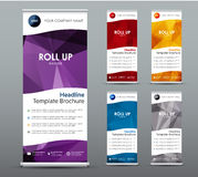 Et of vertical roll up banners. Templates, vertical brochure Stock Photography