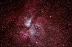 Eta Carinae Nebula - NGC 3772. A picture of the Eta Carinae Nebula taken with an ED80 telescope, focal length: 480mm, focal reducer 0.8x (384mm, f/4.8). 29x30s Stock Images