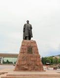 Etablerat i 1960 Från foten av monumentet börjar Abay, som går västra, till bostadsområden Arkivfoto