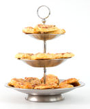 Etagere with pizza snacks Stock Image