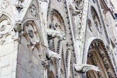 Etails собора Нотр-Дам de Парижа Франция Стоковые Фотографии RF