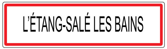Etang Sale les Bains city traffic sign illustration in France Stock Images