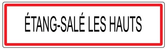 Etang Sale les Hauts city traffic sign illustration in France Royalty Free Stock Images