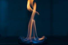 Etanolu ogień w szklanym lab talerzu Obrazy Royalty Free