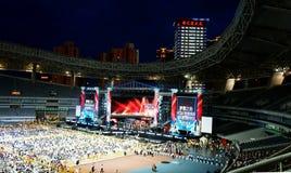 Etapa 2011 de finales de la demostración del talento de China Imagenes de archivo