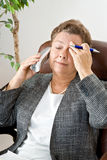 Etapa 3 del dolor de cabeza: Ningún torneado detrás Imagenes de archivo