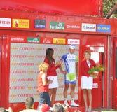 Etapa 6 del podium del viaje de España 2011 Imágenes de archivo libres de regalías