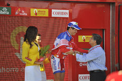 Etapa 6 del podium del viaje de España 2011 Imagen de archivo libre de regalías