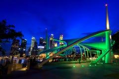 Etapa al aire libre Singapur de la explanada Foto de archivo libre de regalías