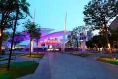 Etapa al aire libre Singapur de la explanada Fotos de archivo libres de regalías