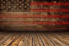 Etapa americana de madera fotografía de archivo