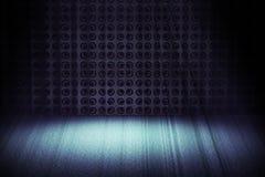 Etapa azul de la vendimia con el proyector Fotos de archivo