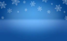 Etapa azul del fondo del copo de nieve del invierno Fotografía de archivo libre de regalías