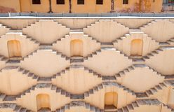 Etapa-bem de Kund do ka de Panna Meena, Jaipur, Rajasthan, Índia Imagens de Stock