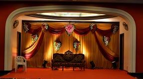 Etapa con las cortinas coloridas Imagen de archivo