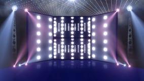 Etapa 3d del concierto de la muchedumbre azul clara ilustración del vector