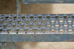 Etapa da escada do metal Imagem de Stock Royalty Free