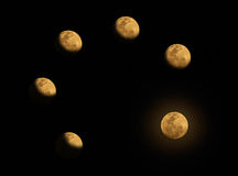A etapa da Lua cheia Imagem de Stock