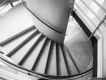 Etapa das escadas que constrói a arquitetura interior da sombra da máscara Imagem de Stock