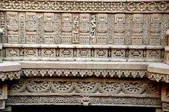 Etapa de Adalaj bem, ahmadabad Imagem de Stock