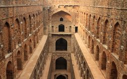 Etapa de Baoli do ki de Agrasen bem, construção antiga, Nova Deli, I Imagens de Stock