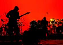 Etapa de la banda de rock Fotografía de archivo