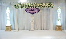 Etapa de la boda foto de archivo