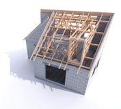 Etapa de la construcci?n del tejado ilustración del vector