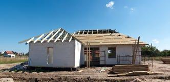 Etapa de la construcción de viviendas Foto de archivo